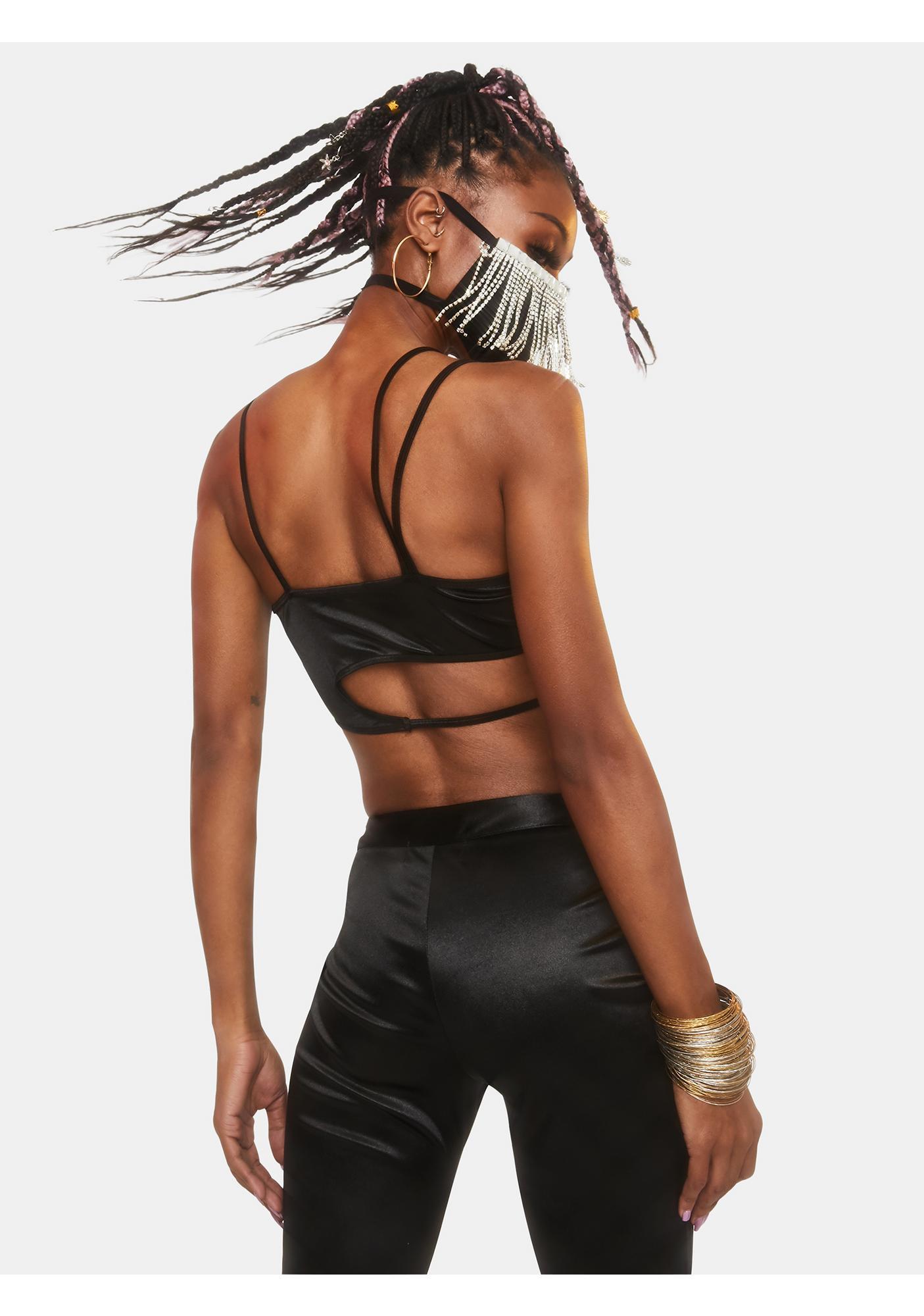 Club Exx Supernova Girl Asymmetrical Bra Top