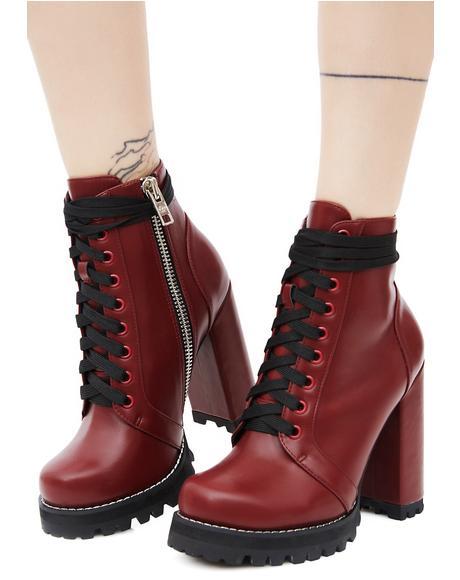 Burgundy Imogen Boots