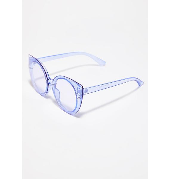 Livin' In Color Clear Sunglasses