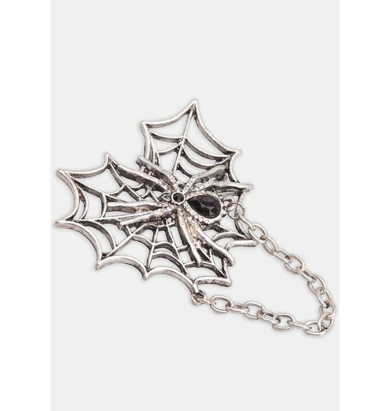 On The Web Spider Pin