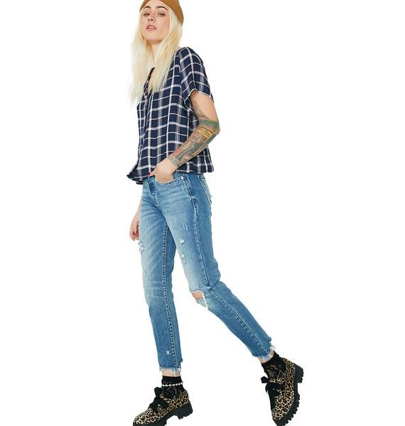 Downtown Darling Distressed Skinny Jeans