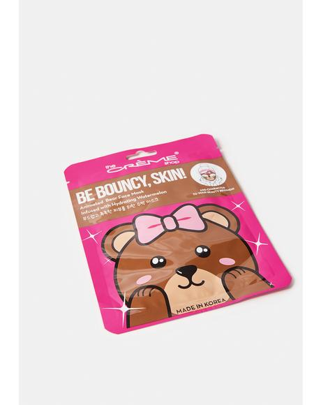 Be Bouncy, Skin! Bear Face Mask