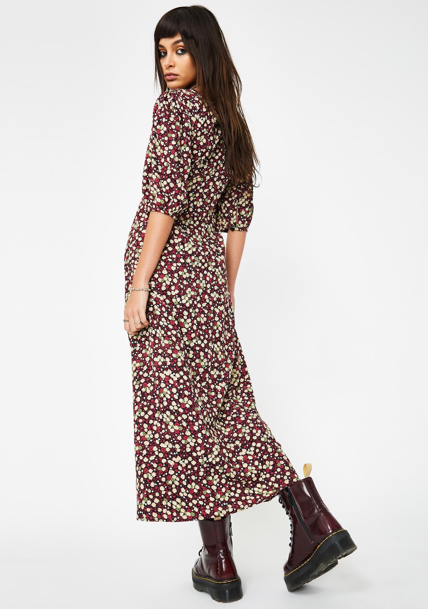 Motel Floral Rigita Maxi Dress