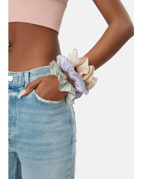 Pastel Got A Crush Pleated Scrunchie Set