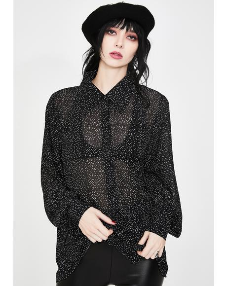 Shadow Sheer Button Up Shirt