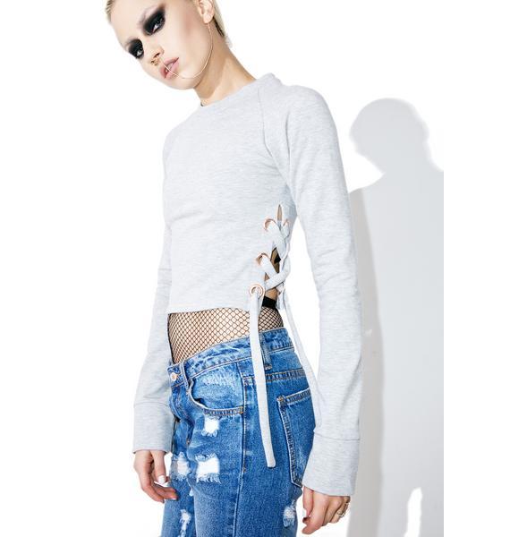 New Direction Lace-Up Sweatshirt