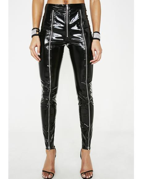 Poppin' Tags PVC Leggings