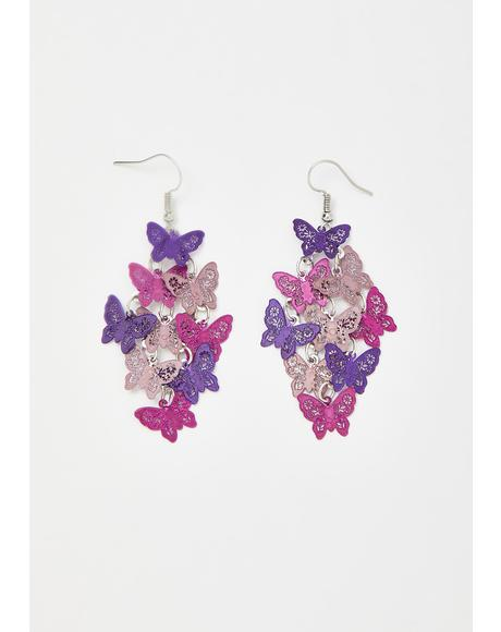 Flight Crew Butterfly Earrings