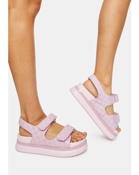 Lilac By Your Side Gladiator Sandals