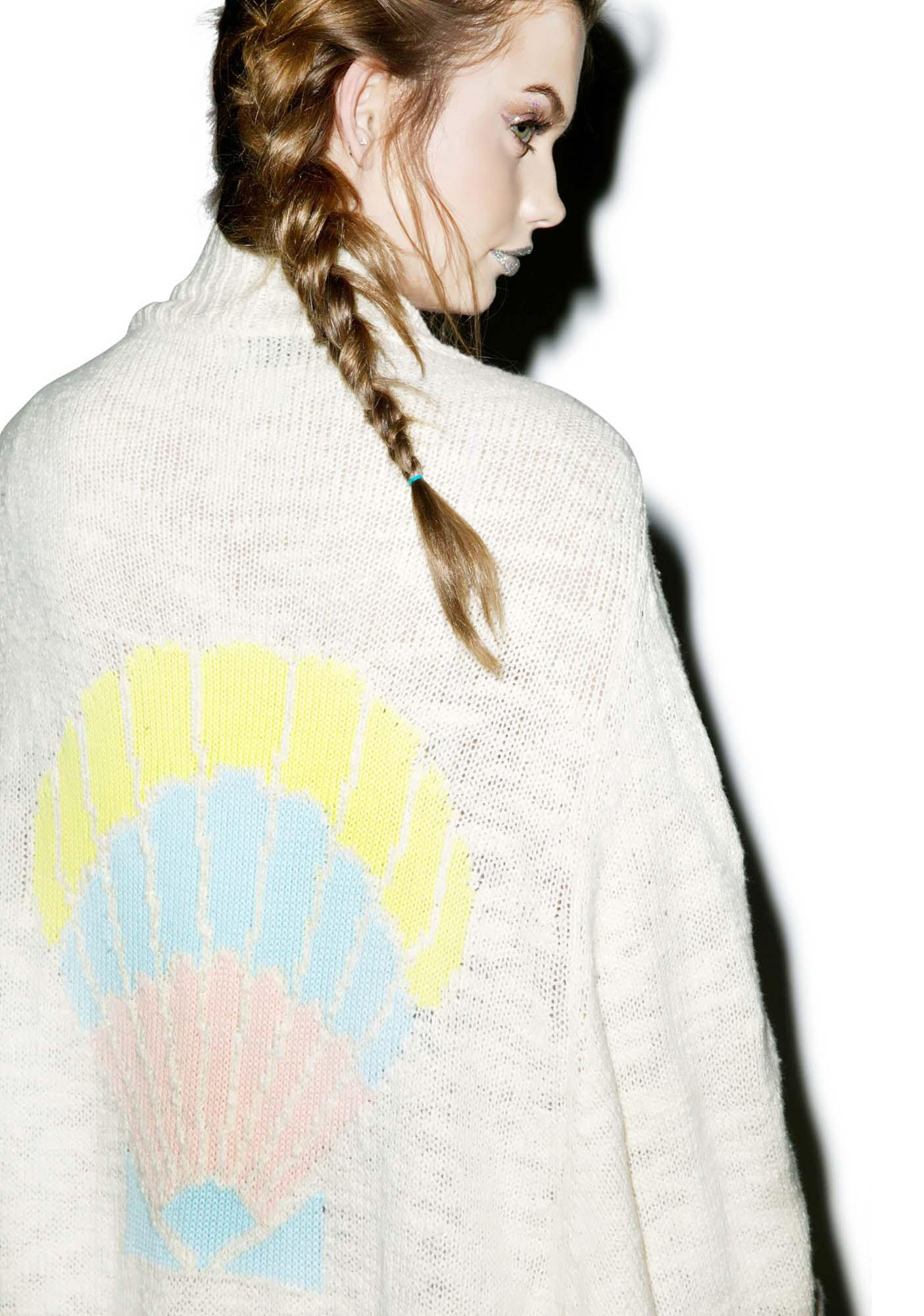Wildfox Couture Seashell Cocoon Cardigan