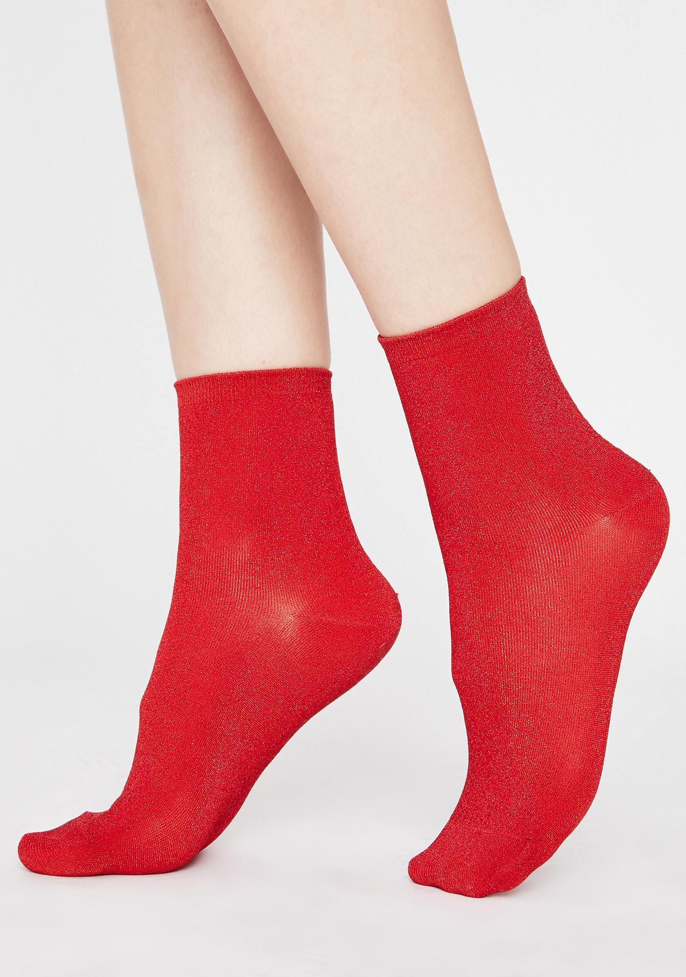 Hottie Lite On My Feet Glitter Socks