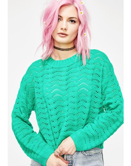 Lush Meadow Knit Sweater