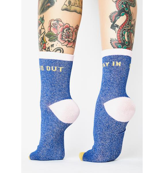 Wild & Wolf Stay In Go Out Crew Socks
