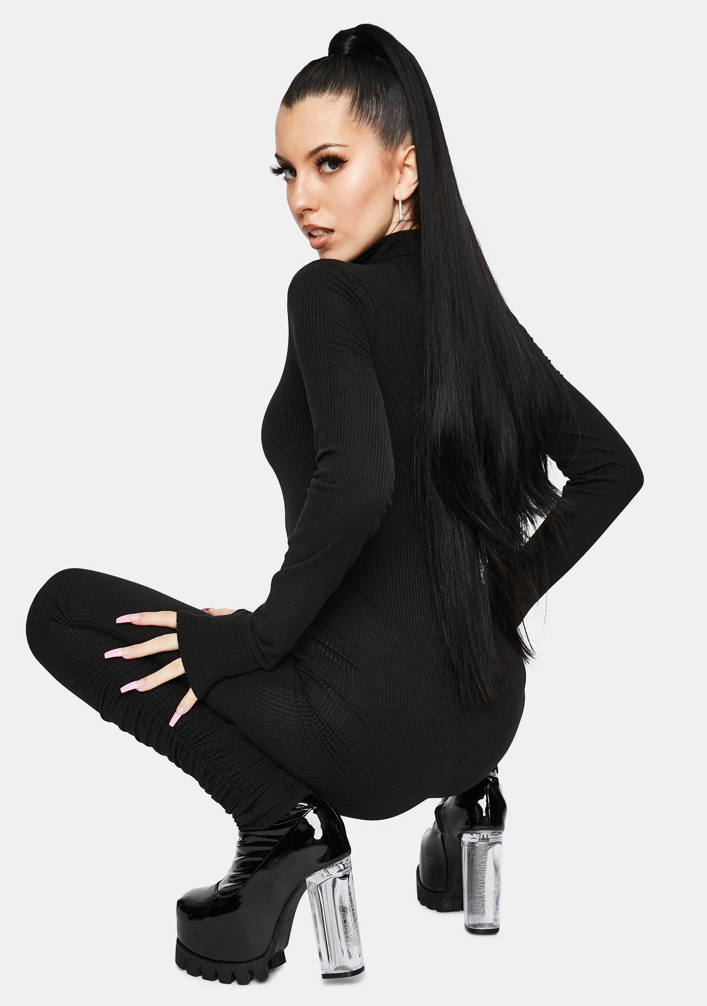 Noir Never Hold Back Zip Up Jumpsuit