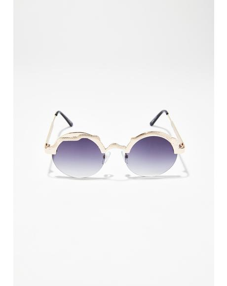 Golden Snake Sunglasses