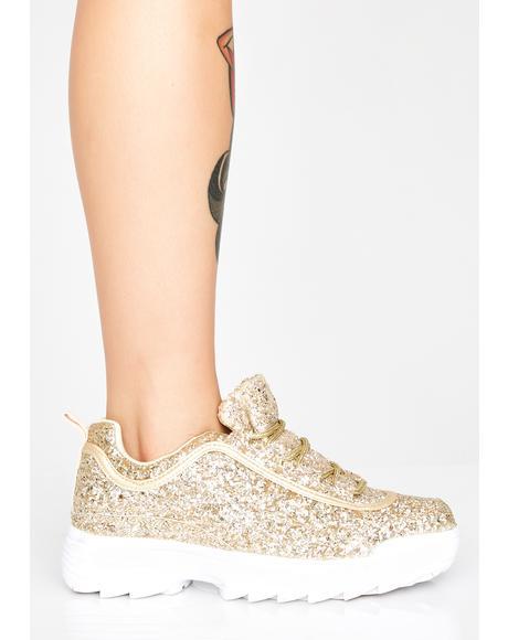 Hit The Goldmine Glitter Sneakers