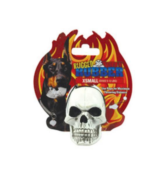 Skull Rubber Dog Toy