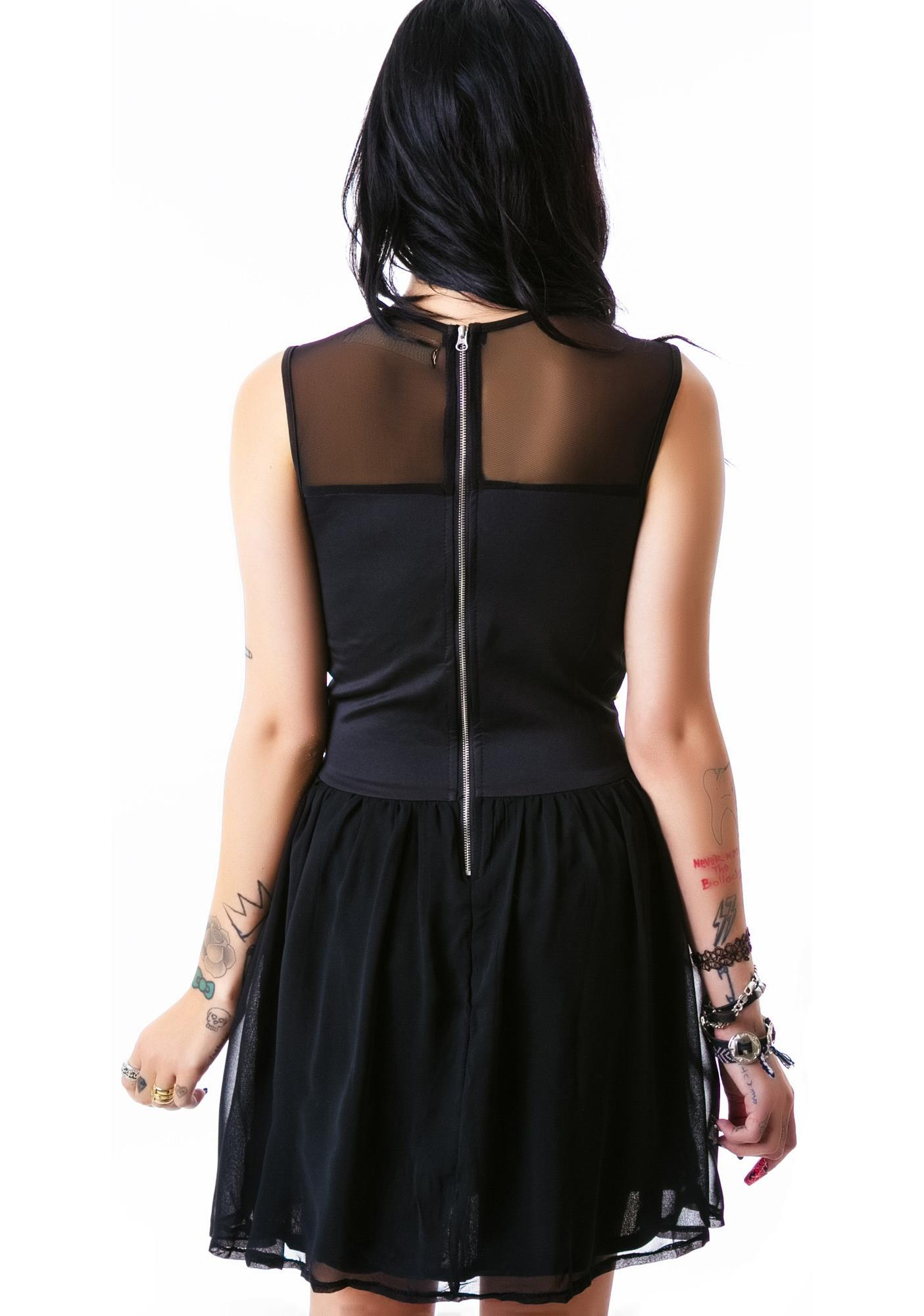 Deja Entendu Studded Bodice Dress