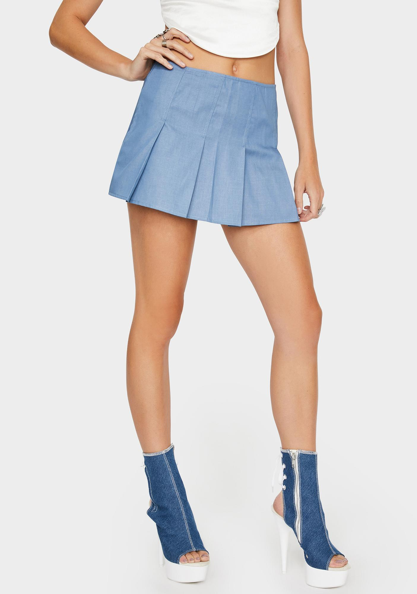 Faded Not Your Business Denim Skirt