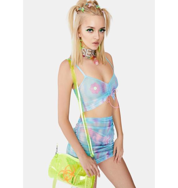 Ivy Berlin Cotton Candy Mesh Top