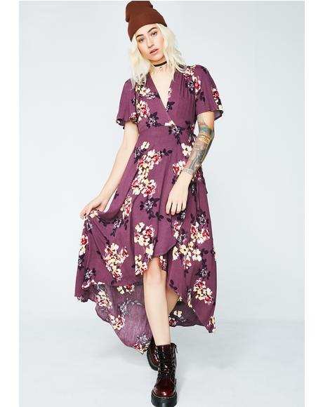 Whimsical Garden Wrap Dress