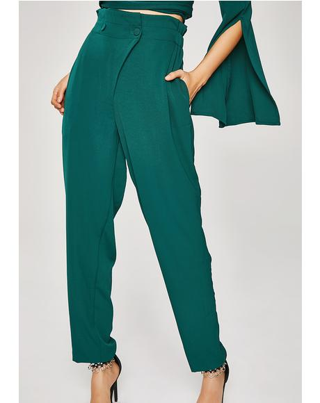 Emerald High Waisted Trousers