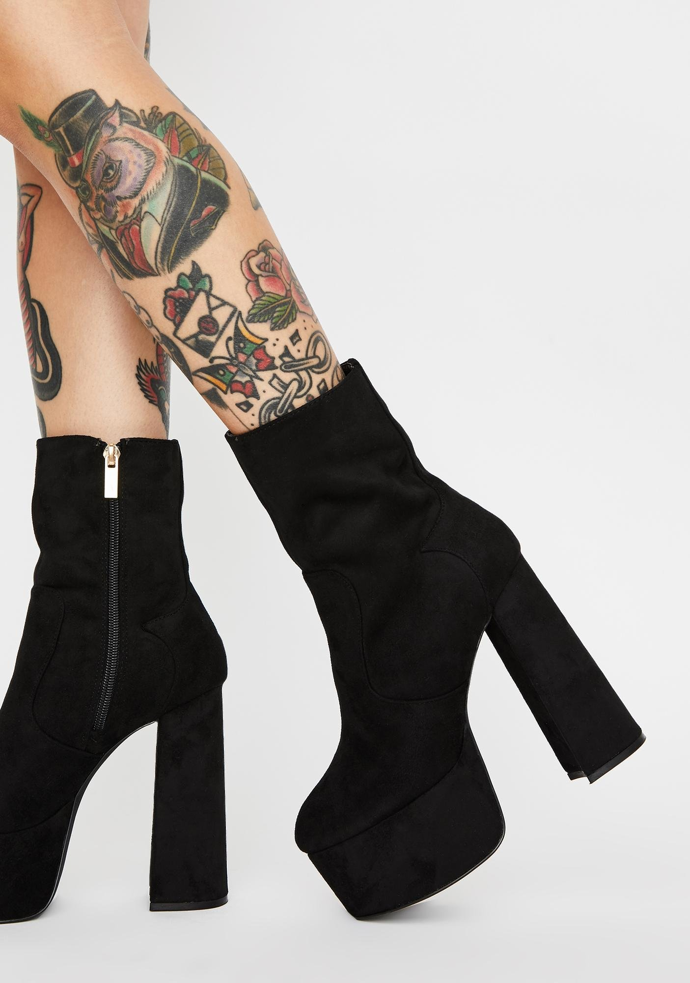 Midnight New York Minute Platform Boots by