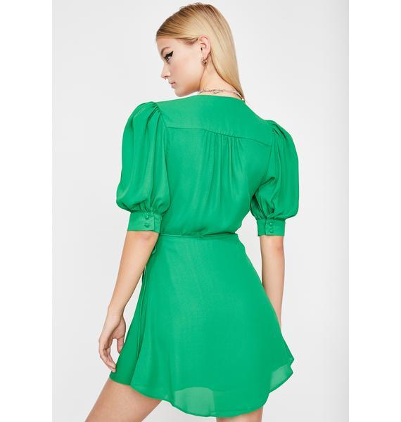 Clover Babe Goals Wrap Dress