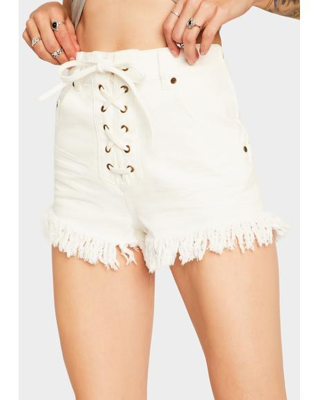 Faraway Lace Up Shorts