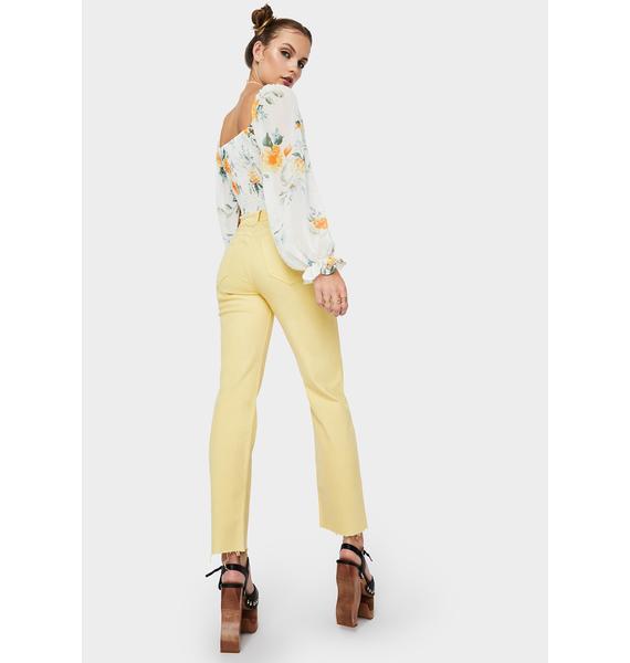 Daze Golden Hour Straight Up High Rise Jeans