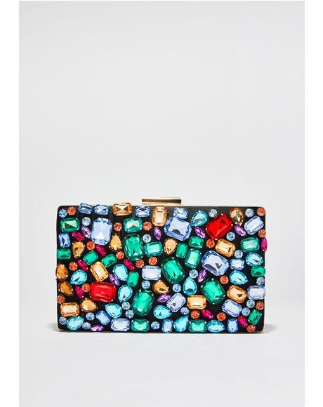 You'z A Gem Jewel Clutch