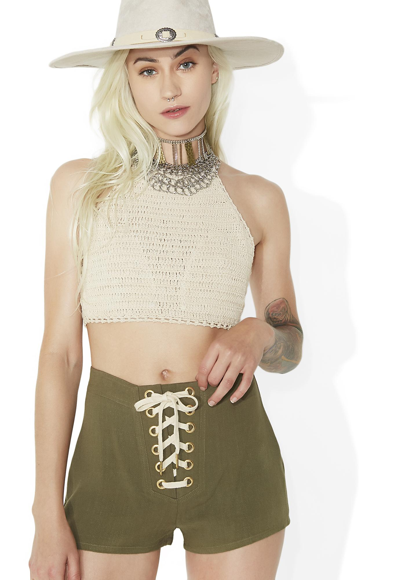 Danger Ranger Lace-Up Shorts