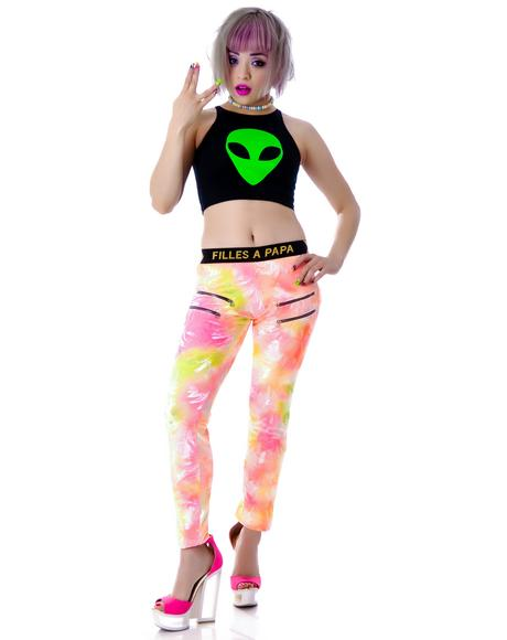 Spring Breakers Love Alien Crop Tank