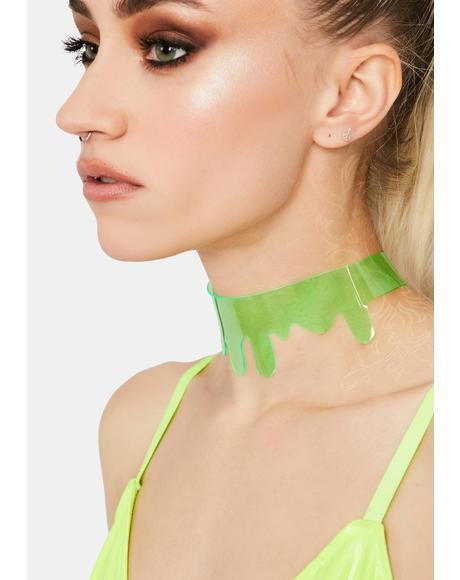 Toxic Slime Clear Choker