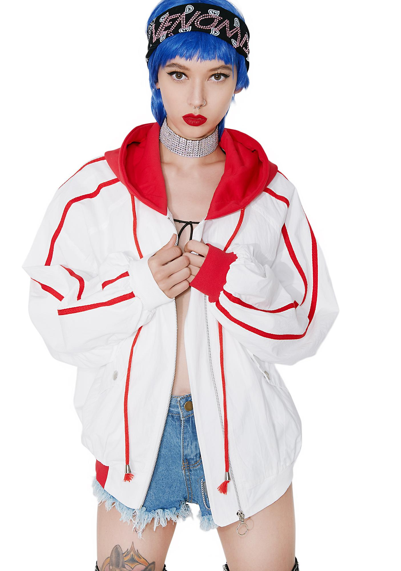 Tammy Jo Hooded Windbreaker