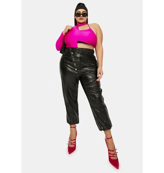 I'm Off The Grid Faux Leather Pants