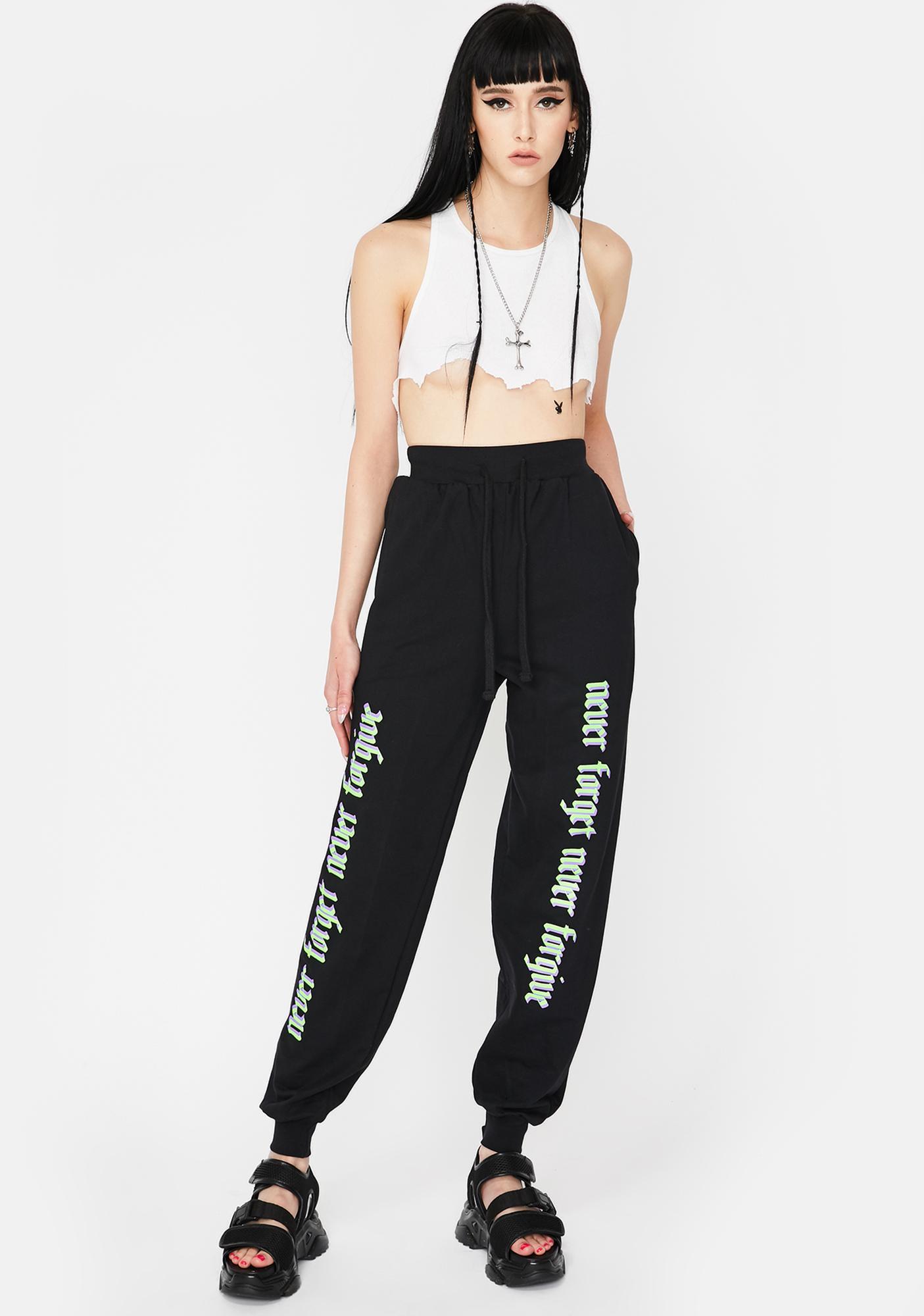 Long Clothing White Karma Jogger Sweatpants