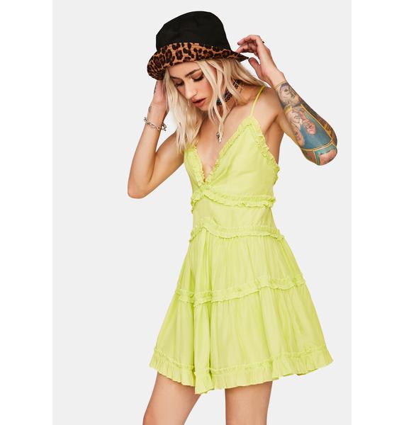 Kiwi Ruffle Me Up Mini Dress