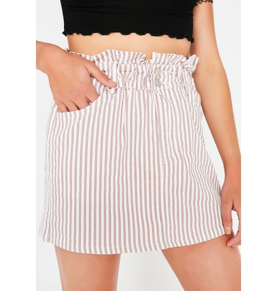Candy Stripe Mini Skirt