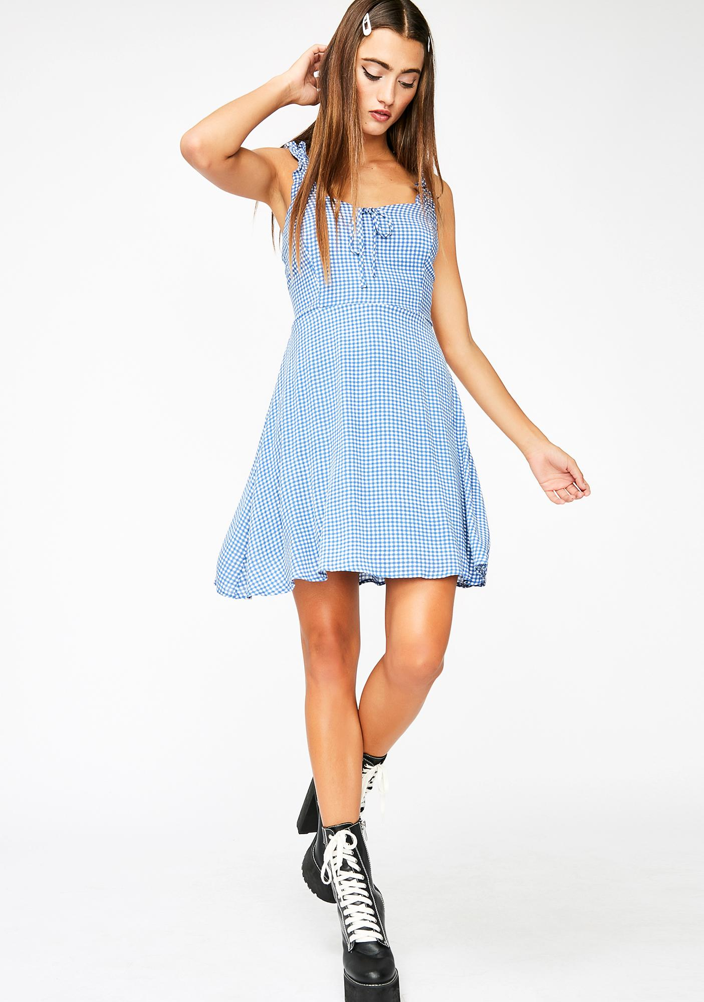 Sunshine BB Gingham Dress