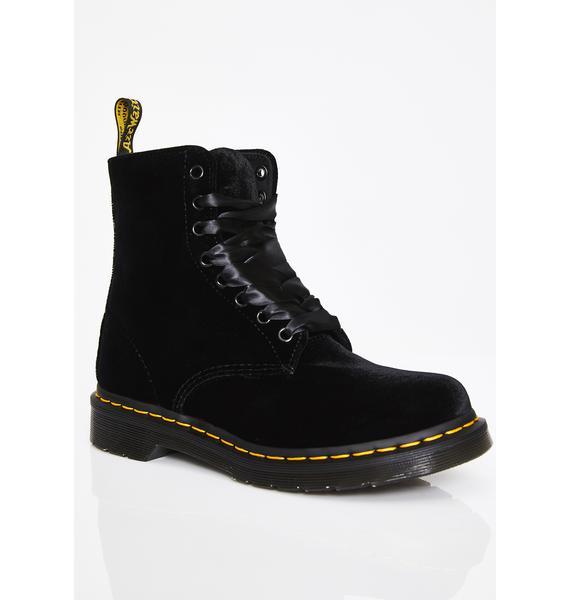 Dr. Martens 1460 Pascal Velvet Boots