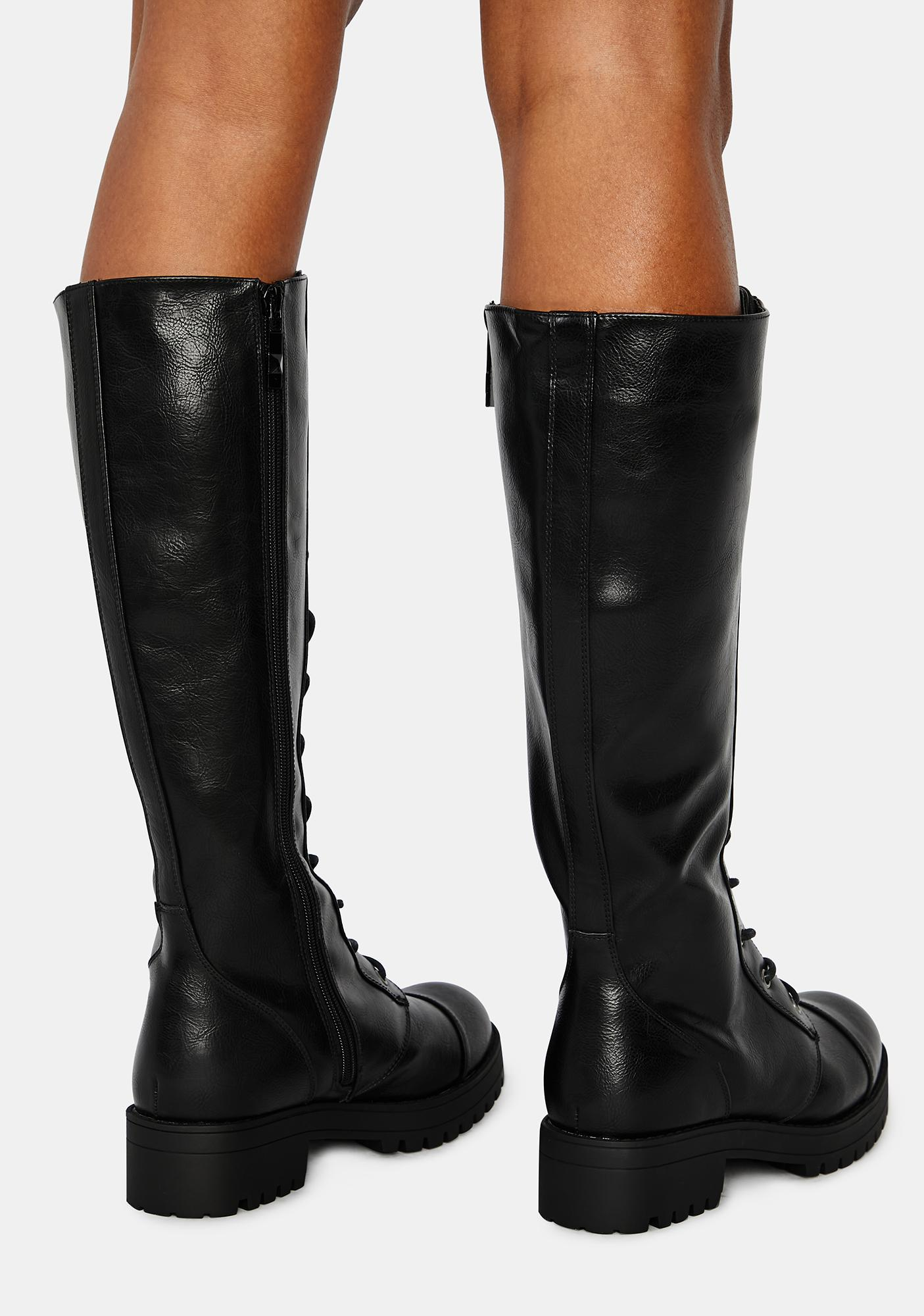 Dirty Laundry Vandal Tall Combat Boots