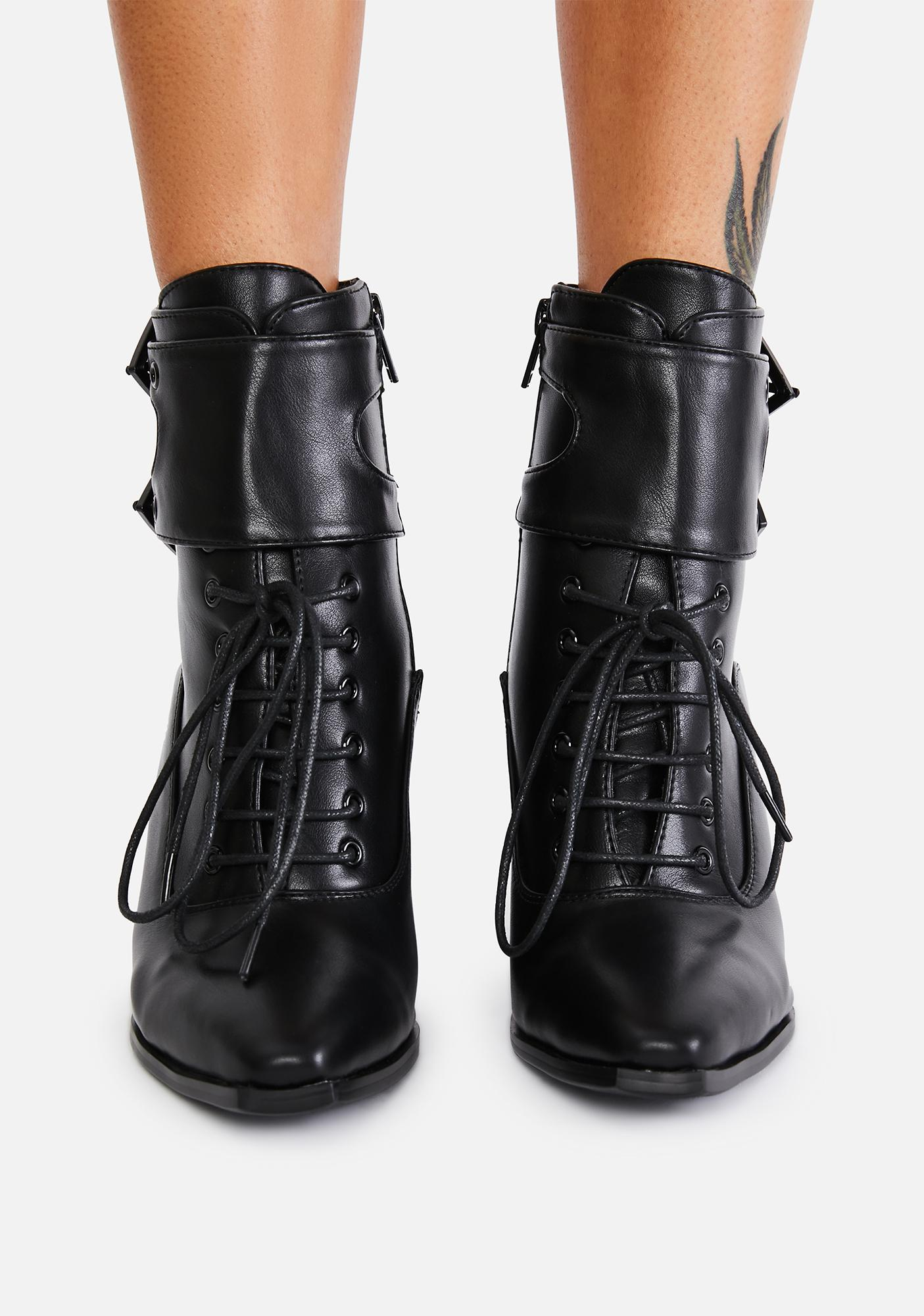 Lamoda Bad Spell Lace Up Boots