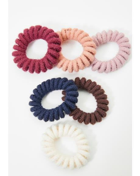 Love Fuzz Scrunchies Set