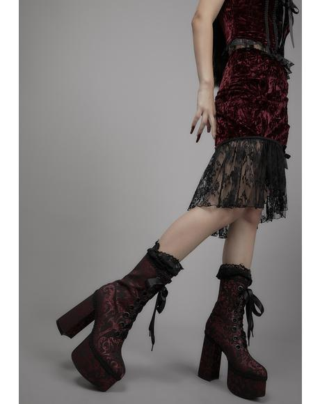 Unfinished Business Brocade Platform Boots