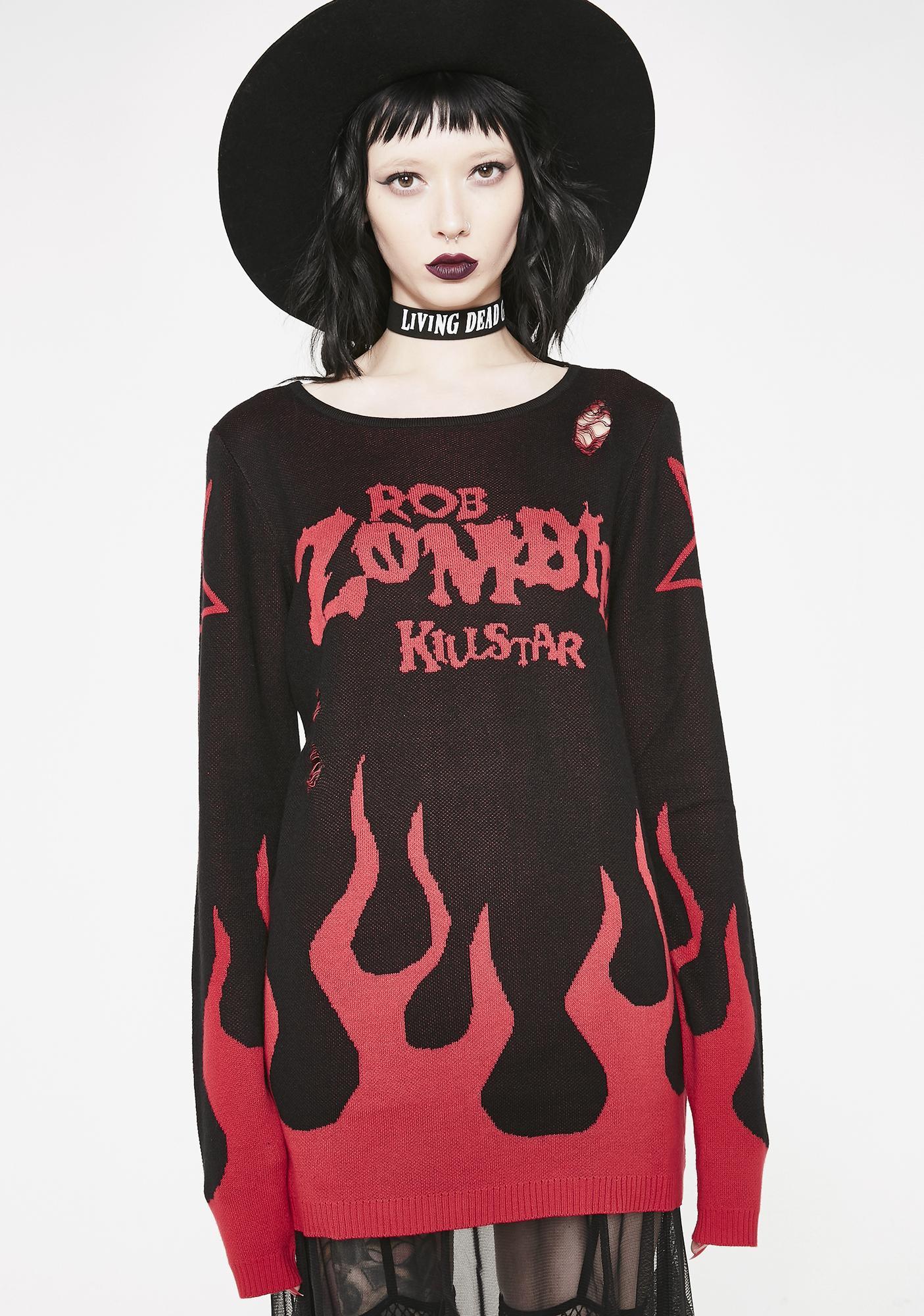 Killstar Six Feet Under Knit Sweater