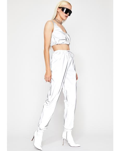 Crystal Moon Stalker Reflective Jogger Pants