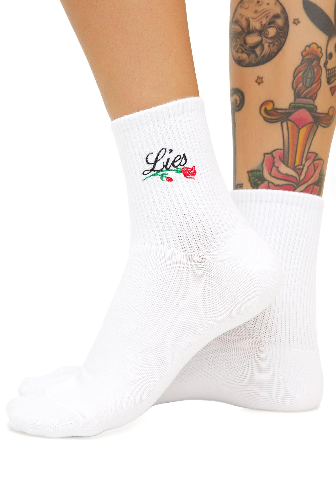 Petals and Peacocks Lies Ankle Socks