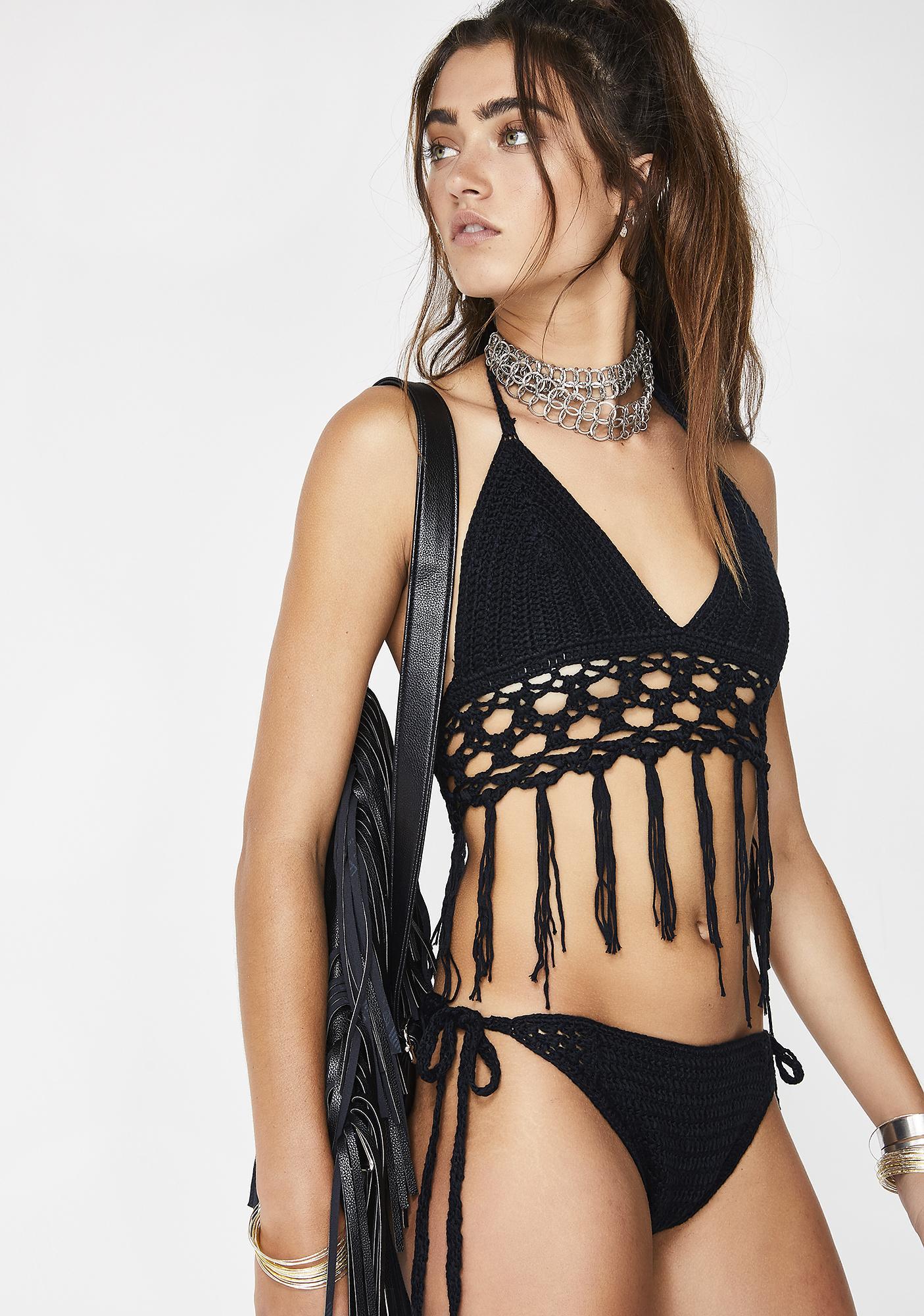 Roll The Dice Crochet Bikini Set