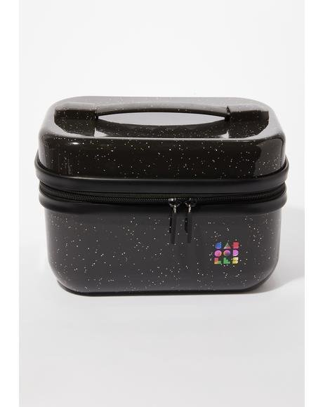 Black Sparkle Voyager Train Case